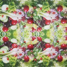 Szalvéta, zöldségek, 32x32 cm, 1 darab