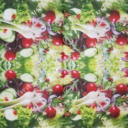 Szalvéta, zöldségek, 33x33 cm (11)