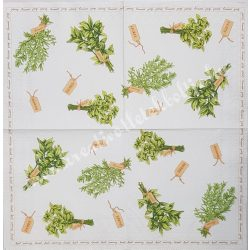 Szalvéta, zöldfűszerek, 32x32 cm, 1 darab