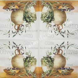 Szalvéta, oliva, 32x32 cm, 1 darab