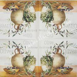 Szalvéta, oliva, 33x33 cm (29)