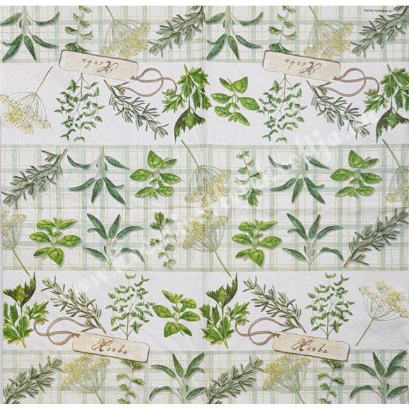 Szalvéta, fűszernövények, 33x33 cm (30)