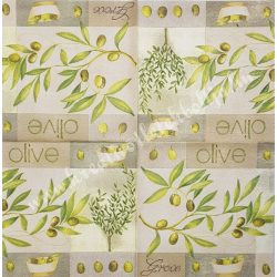 Szalvéta, olíva, 32x32 cm, 1 darab