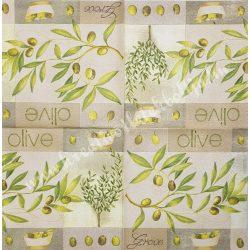 Szalvéta, olíva, 33x33 cm (31)