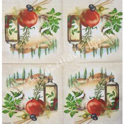 Szalvéta, fűszernövények, 32x32 cm, 1 darab