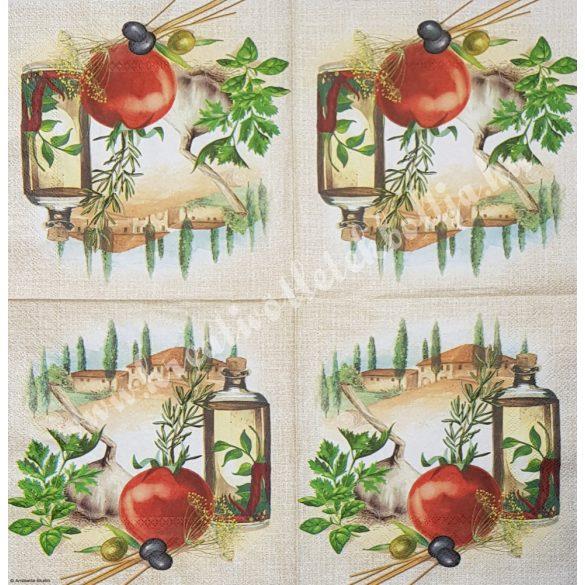 Szalvéta, fűszernövények, 33x33 cm (37)