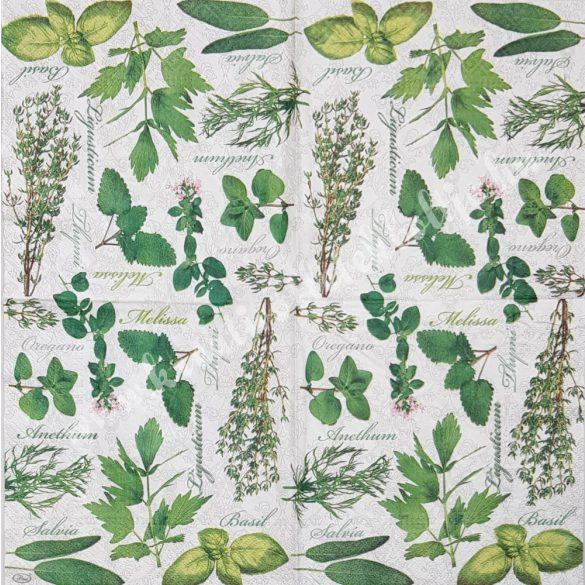 Szalvéta, fűszernövények, 33x33 cm (39)