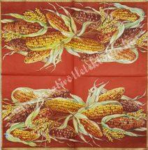 Szalvéta, zöldségek, kukorica, 25x25 cm, 1 darab