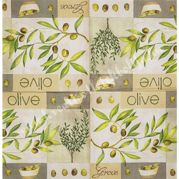 Szalvéta, oliva, 33x33 cm (3)