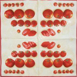 Szalvéta, paradicsom, 33x33 cm (10)