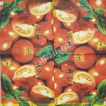 Szalvéta, zöldségek, paradicsom, 32x32 cm, 1 darab