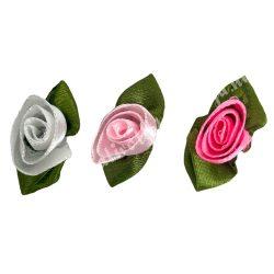 Szaténrózsa, rózsaszín, 34mm