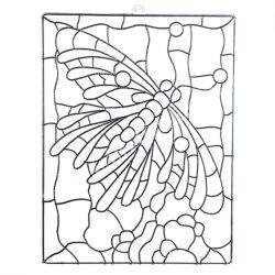 Festhető forma matricafestékhez, szitakötő, 13x17 cm