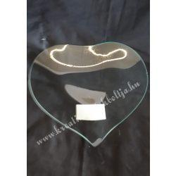 Szív alakú üvegtányér