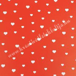 Szív mintás karton 1., kétoldalas, 30x20 cm