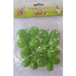Textil pillangó, zöld