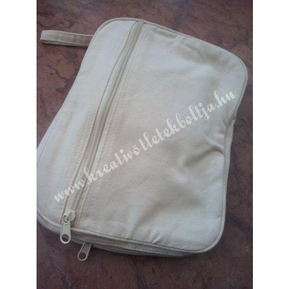 Cipzáras hátizsák, összecsukható, bézs