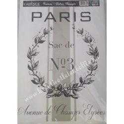 Textiltranszfer, Párizs, 25x35 cm