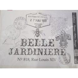 Textiltranszfer, méhecske pecséttel, 25x35 cm