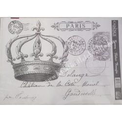 Textiltranszfer, korona bélyeggel, 25x35 cm