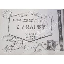 Textiltranszfer, szöveg bélyeggel, 25x35 cm