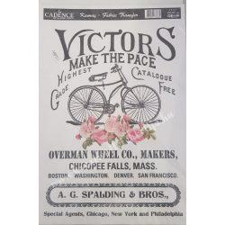 Textiltranszfer, szöveg biciklivel, 25x35 cm