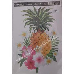 Textiltranszfer, ananász, 17x25 cm