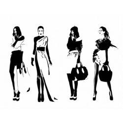 Textiltranszfer, női divat, 21x30 cm