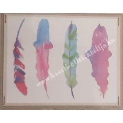 Textiltranszfer, tollak, 25x35 cm