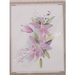 Textiltranszfer, virágok, 25x35 cm