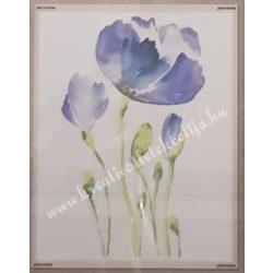 Textiltranszfer, virág szárral, 25x35 cm