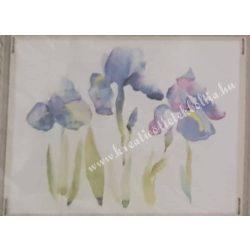 Textiltranszfer, fekvő virágok, 25x35 cm