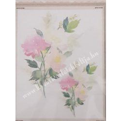 Textiltranszfer, virág, 25x35 cm
