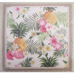 Textiltranszfer, trópusi, 43x43 cm