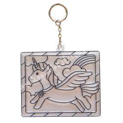 Festhető forma matricafestékhez, unikornisos kulcstarto