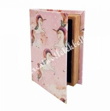 Unikornisos, könyv alakú tároló, kicsi