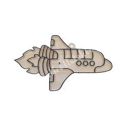 Festhető forma matricafestékhez, űrsikló