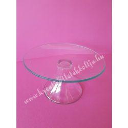 Üveg tortatál kerek, 20 cm