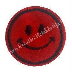 Vasalható matrica, Smiley, mosolygó, 4,5 cm