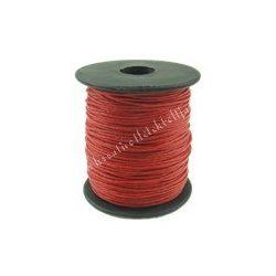 Viaszolt zsinór, 1mmx1m, piros, 1 méter