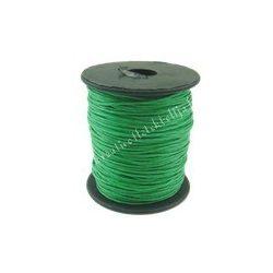 Viaszolt zsinór, 1mmx1m, zöld, 1 méter