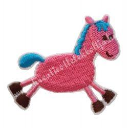Vasalható matrica, ló, rózsaszín 5,7x4,5 cm