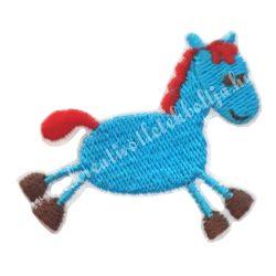 Vasalható matrica, ló, kék 5,7x4,5 cm