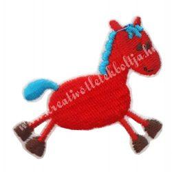 Vasalható matrica, ló, piros 5,7x4,5 cm