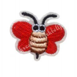 Vasalható matrica, méhecske, piros 4x3,5 cm