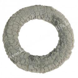 Koszorú, baby soft anyaggal, szürke, 25 cm