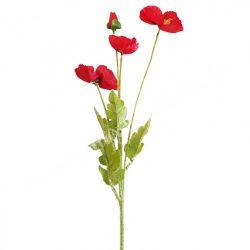 Selyemvirág, pipacs, kb. 60 cm