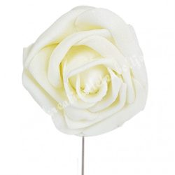 Betűzős polifoam rózsa, vanilia, 5 cm