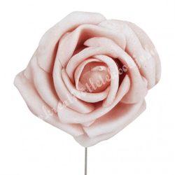 Betűzős polifoam rózsa, barack, 5 cm