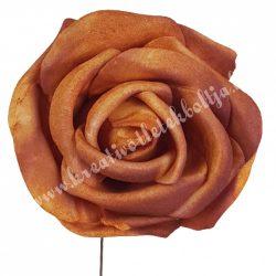 Betűzős polifoam rózsa, narancssárga, 5 cm